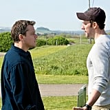 Matt Damon and John Krasinski in Promised Land.
