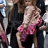 Angelina Jolie with daughter Vivienne.