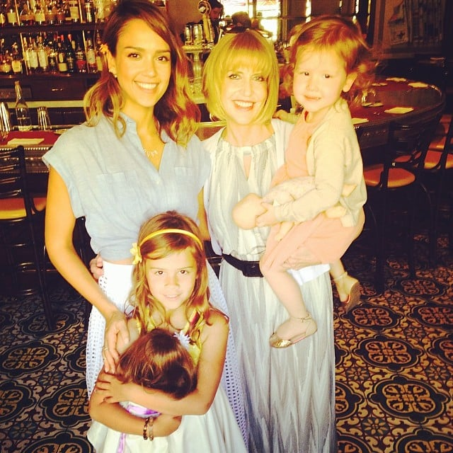 Jessica Alba celebrated Mother's Day with her mom, Cathy, and her girls, Honor and Haven Warren. Source: Instagram user jessicaalba