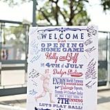 Vintage Baseball Sign