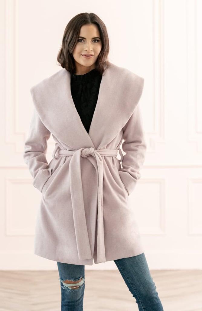 Rachel Parcell Belted Wrap Coat