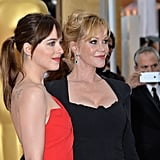 Melanie Griffith and Dakota Johnson at the 2015 Oscars
