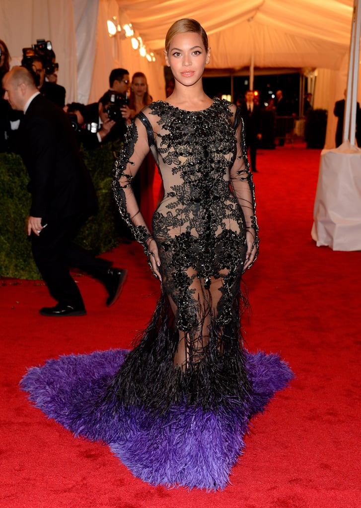 Beyoncé's Givenchy gown from the front.