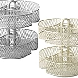 Mesh Cosmetics Organizer Carousel With Removable Baskets