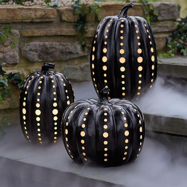 Black Illuminated Pumpkins