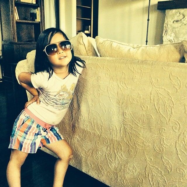 Naleigh Kelley showed off her summer look for her dad, Josh Kelley. Source: Instagram user joshbkelley