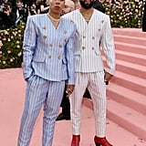 Lena Waithe and Chadwick Boseman at the 2019 Met Gala
