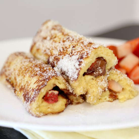 Strawberry-Nutella French Toast Roll-Ups