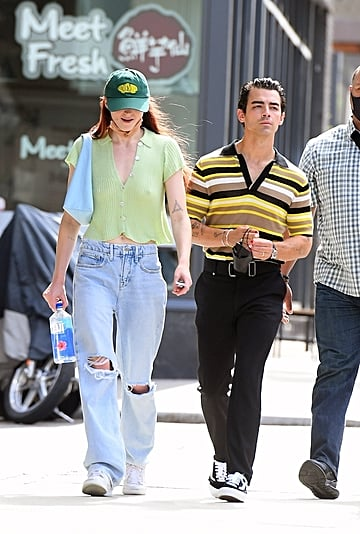 Sophie Turner and Joe Jonas Wear Cardigans and Masks in NYC
