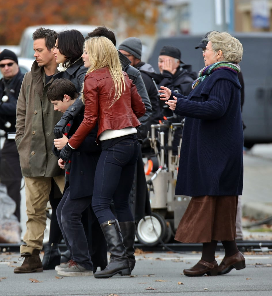 Jennifer Morrison and Beverley Elliott on the set of Once Upon a Time.