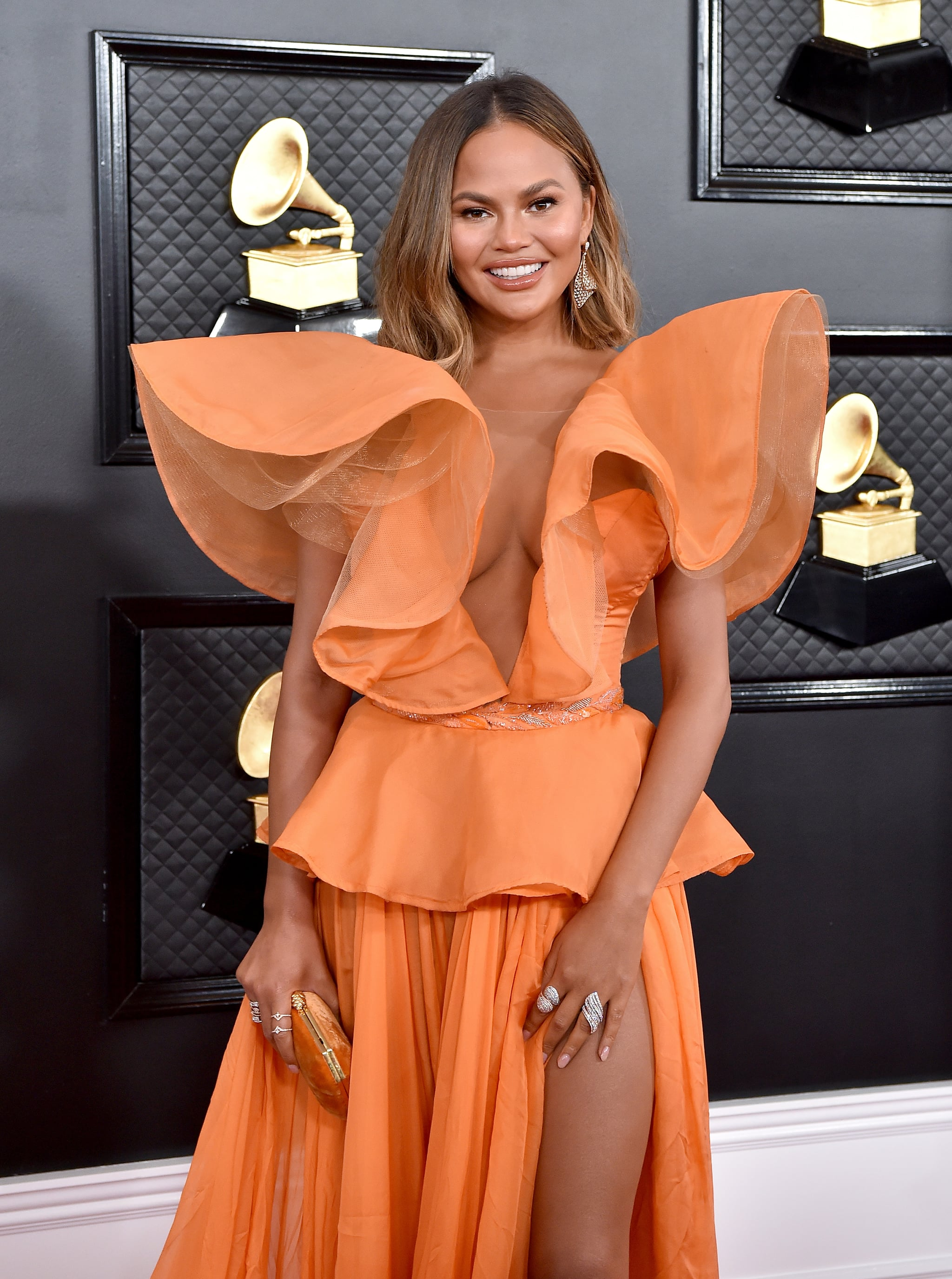 LOS ANGELES, CALIFORNIA - JANUARY 26: Chrissy Teigen attends the 62nd Annual GRAMMY Awards at Staples Centre on January 26, 2020 in Los Angeles, California. (Photo by Axelle/Bauer-Griffin/FilmMagic)