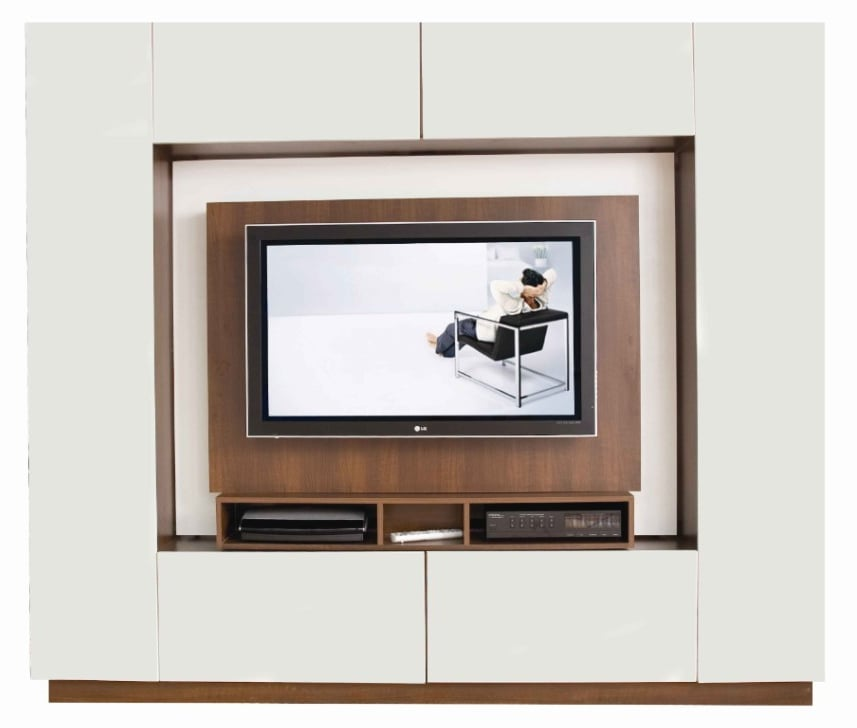 room divider tv stand popsugar tech. Black Bedroom Furniture Sets. Home Design Ideas