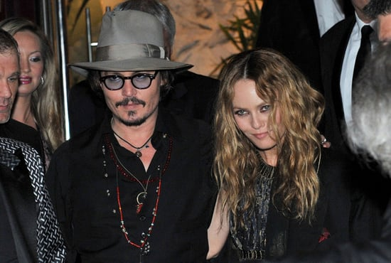 Johnny Depp and Vanessa Paradis attend a party at the VIP Room as part of the 63rd Cannes Film Festival .