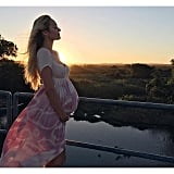 Candice Caught Her Pink Tie-Dye Maxi in Just the Right Light