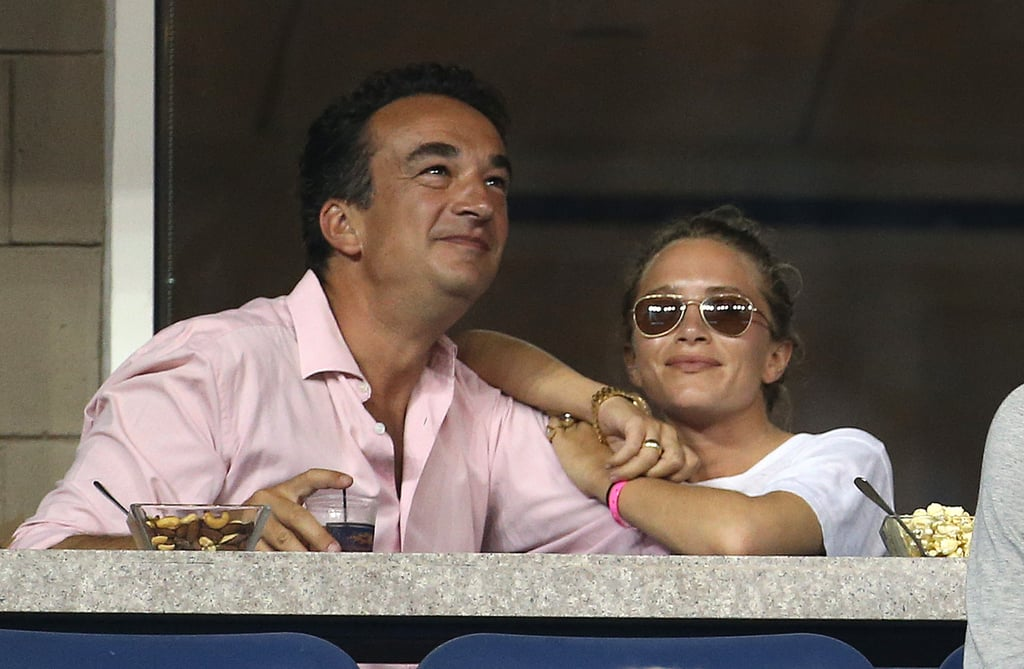 Mary-Kate and Olivier Sarkozy attended the US Open in 2014, and she rocked a pair with a casual white tee.