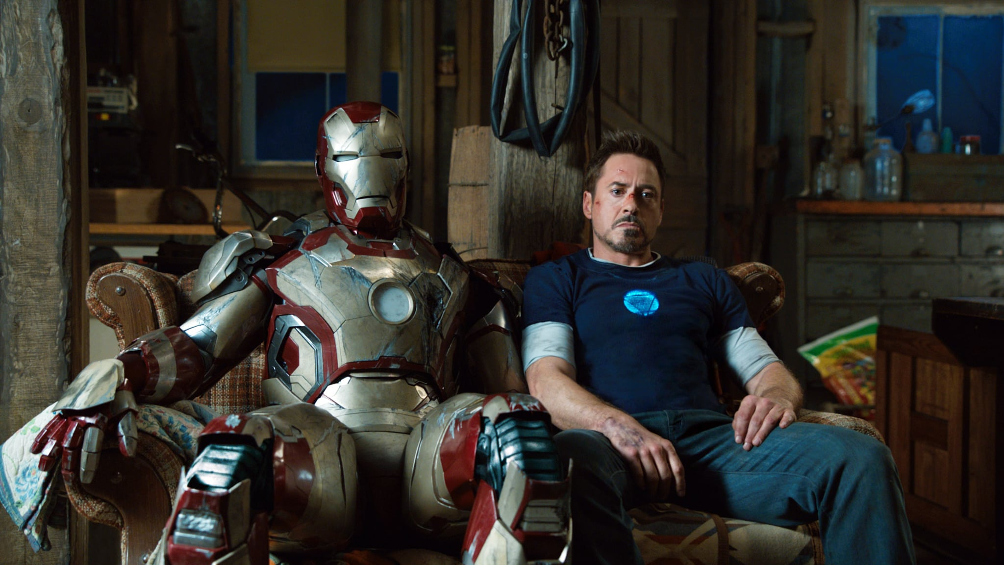 IRON MAN 3, Robert Downey Jr. as Iron Man, 2013. ph: Zade Rosenthal/Walt Disney Pictures/courtesy Everett Collection