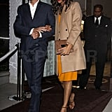 Zoe and Gary held hands leaving The Ivy.