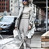 Go Monochrome in All Gray and Silver Metallic Boots
