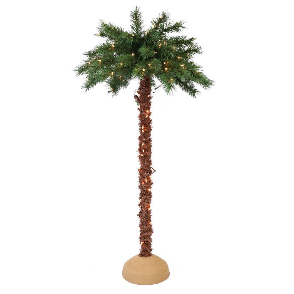Puleo International 5-Foot Artificial Christmas Palm Tree