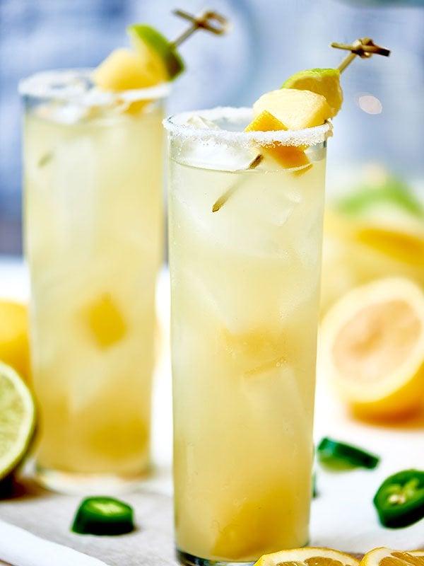 Jalapeño Margarita With Jalapeño Infused Tequila