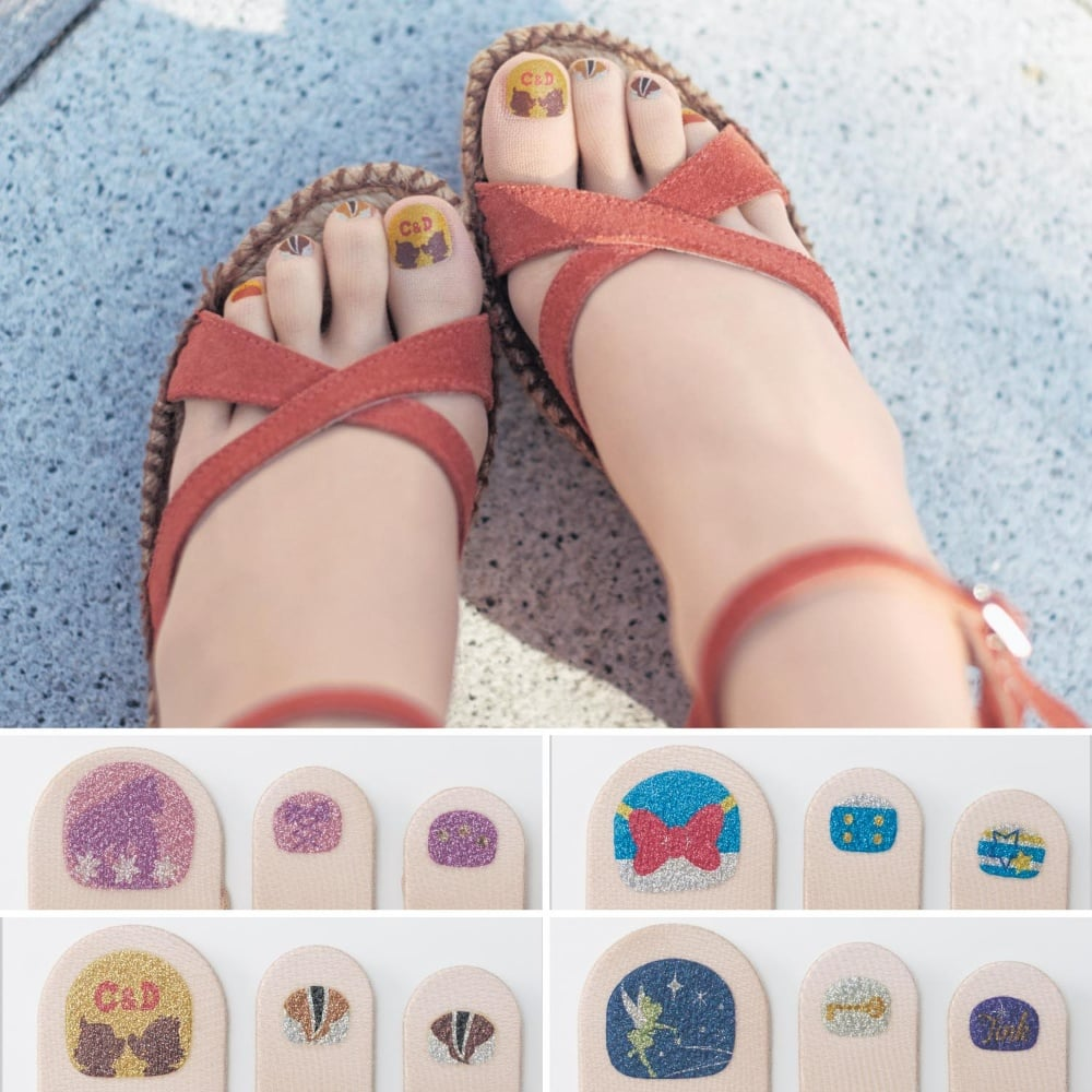 Japanese Pedicure Painted Toenail Tights