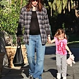 Seraphina Affleck spent the day with pregnant Jennifer Garner.