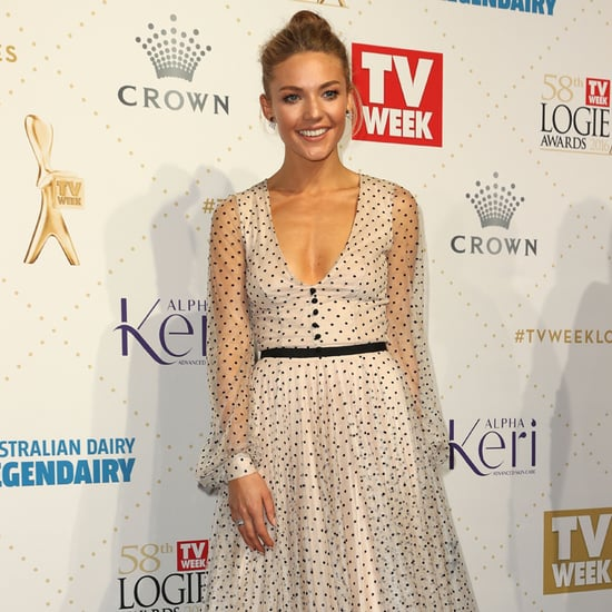 Sam Frosts Polka Dot Steven Khalil Logies Dress 2016