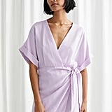 & Other Stories Kimono Wrap Mini Dress