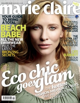 Cate Blanchett On the Cover of Marie Claire's Eco-Chic June Issue