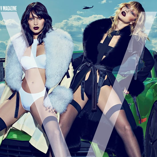 Gigi and Bella Hadid V Magazine Cover June 2015
