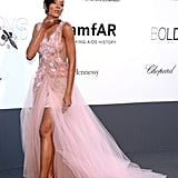 Selita Ebanks at the amfAR gala in Cannes.