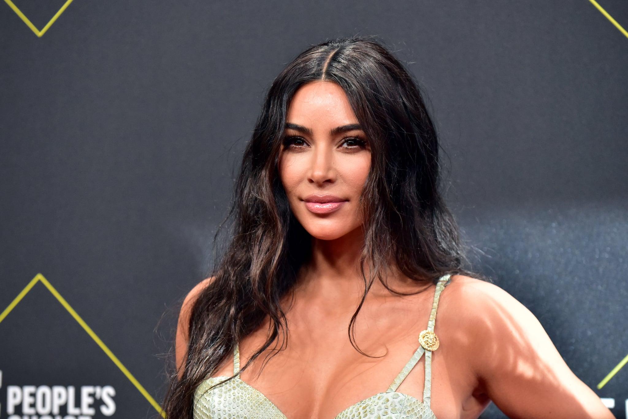 SANTA MONICA, CALIFORNIA - NOVEMBER 10: Kim Kardashian attends the 2019 E! People's Choice Awards at Barker Hangar on November 10, 2019 in Santa Monica, California. (Photo by Rodin Eckenroth/WireImage)