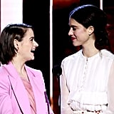 Joey King and Margaret Qualley at the 2020 Spirit Awards