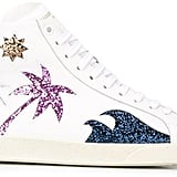 It's all palm trees and sunshine in these Saint Laurent 'Court Classic Sea, Sex & Sun' Hi-Top Sneakers ($695).
