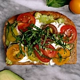 Heirloom Tomatoes, Burrata, and Basil Avocado Toast