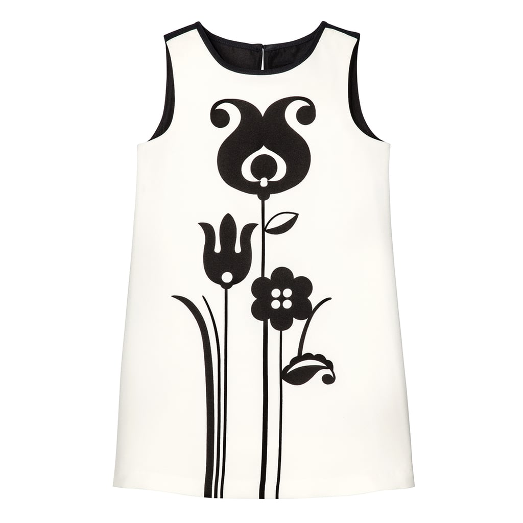 Girls' Black and White Mod Shift Tulip Print Dress ($25)