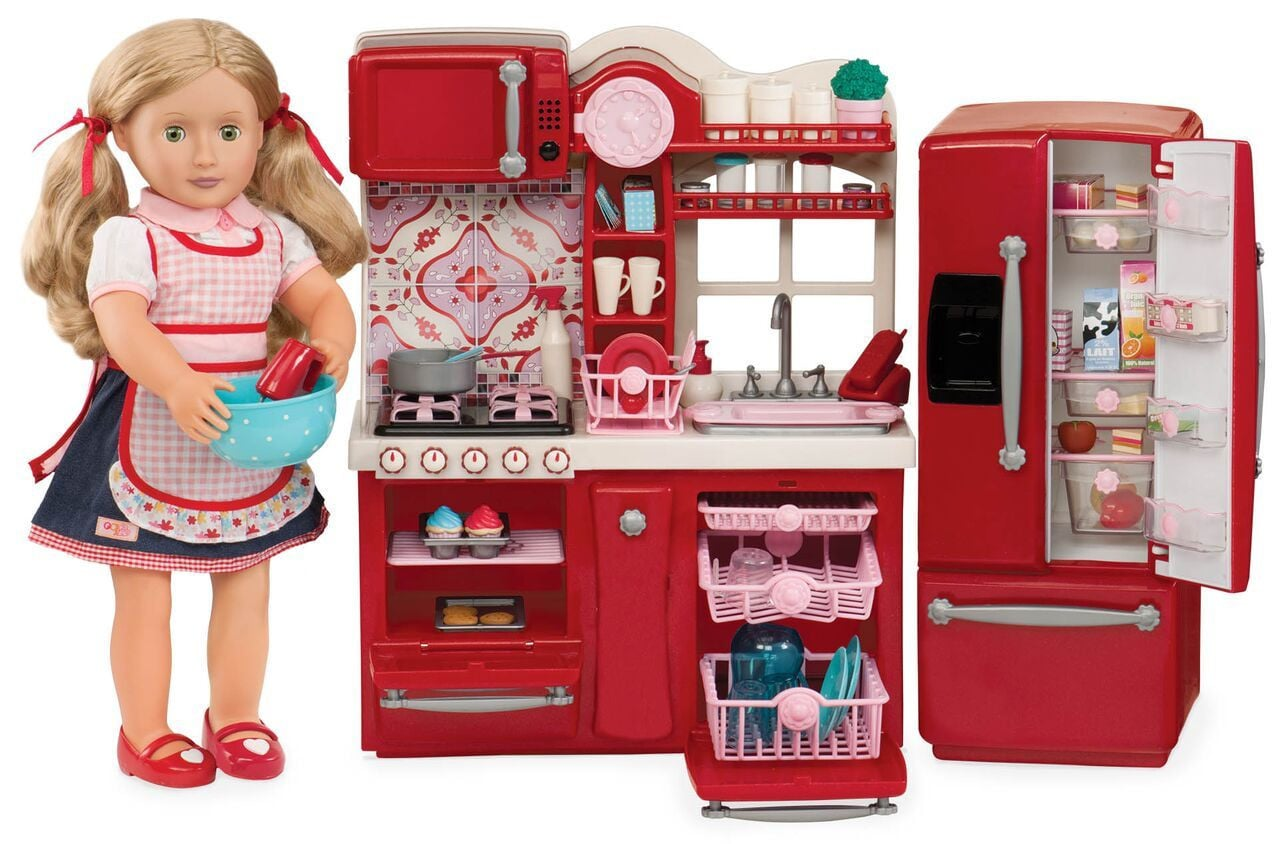 Gourmet kitchen set 40 must have gifts every american for Doll kitchen set