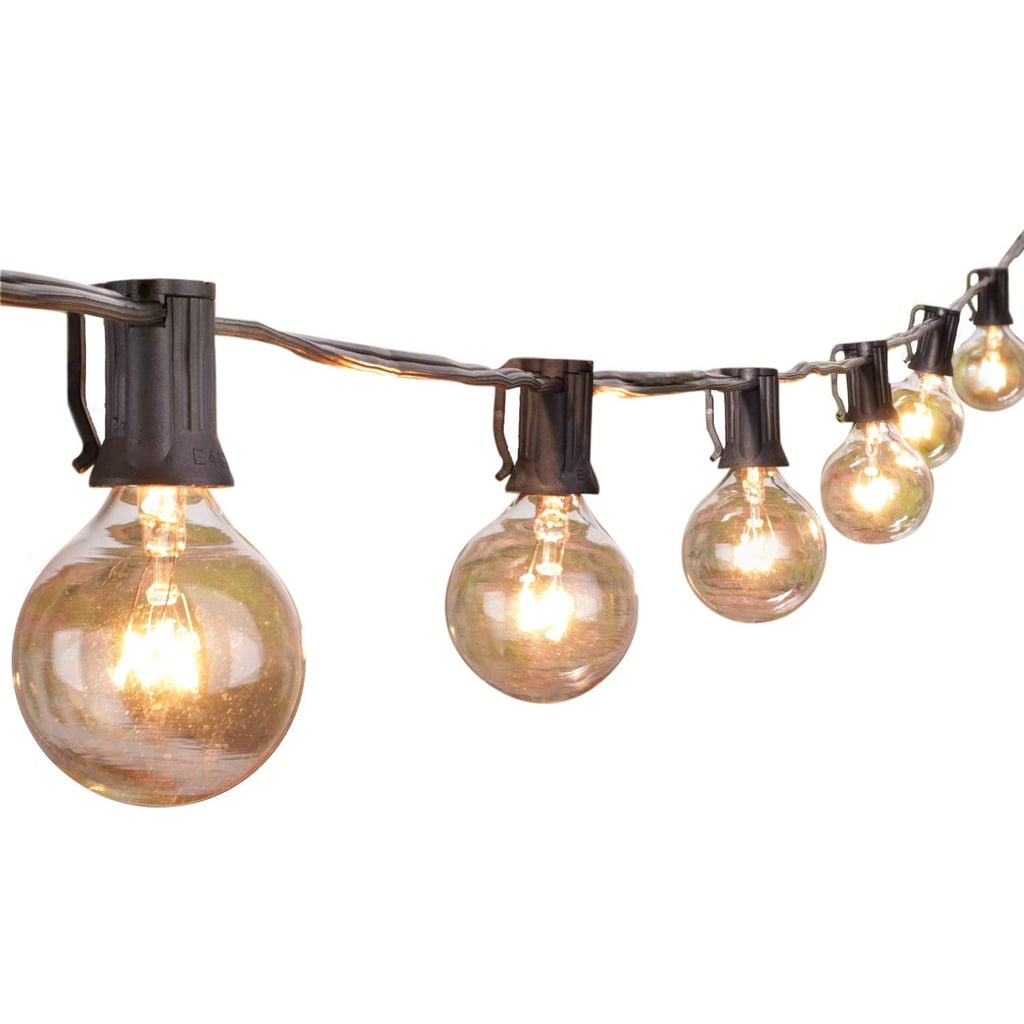 25Ft Globe String Lights with Clear Bulbs