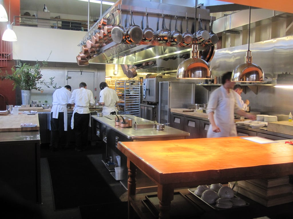 The award-winning chef, Joshua Skenes, created a special menu to pair with Robert Mondavi wines. The large open kitchen felt almost home-like.