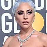 Lady Gaga With Blue Hair