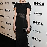 Kate Bosworth went long and black in a gown from Chanel Spring '11.