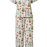 Stevie Howell Dianthus Rose Cotton Long Pajama Set
