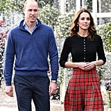 Kate Middleton's Plaid Midi Skirt December 2018