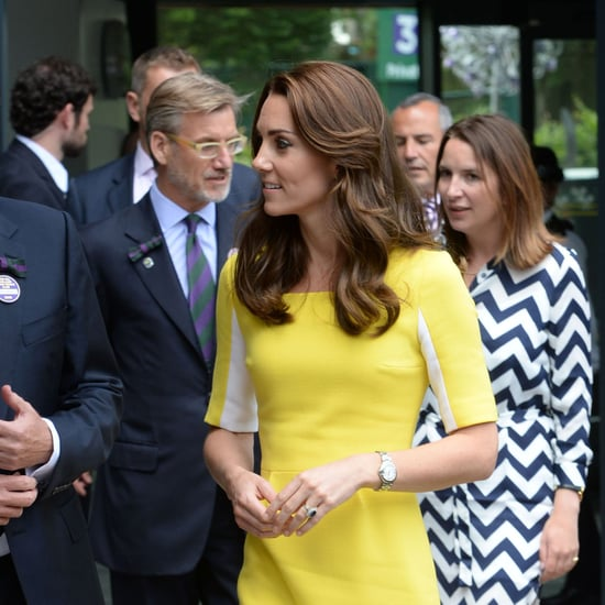Duchess Kate's Yellow Roskanda Dress at Wimbledon 2016
