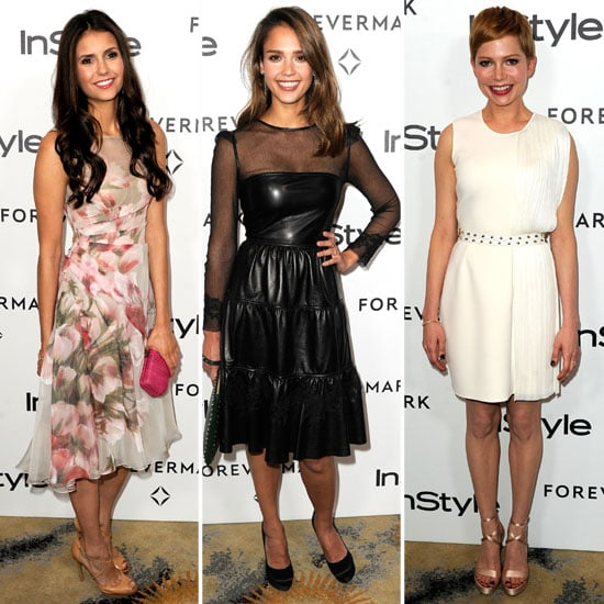 Jessica Alba and Michelle Williams at InStyle Event Pictures