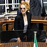 Nicole Kidman arrived by boat for the 2001 Venice Film Festival.