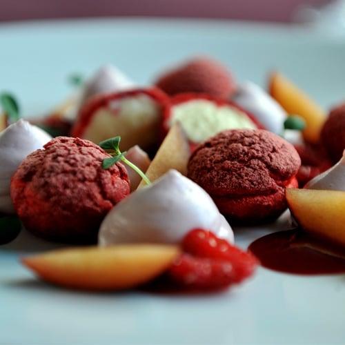 Raspberry and Vanilla Choux