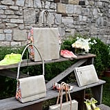 Stella's lineup of covetable Resort accessories were displayed on shabby-chic steps.