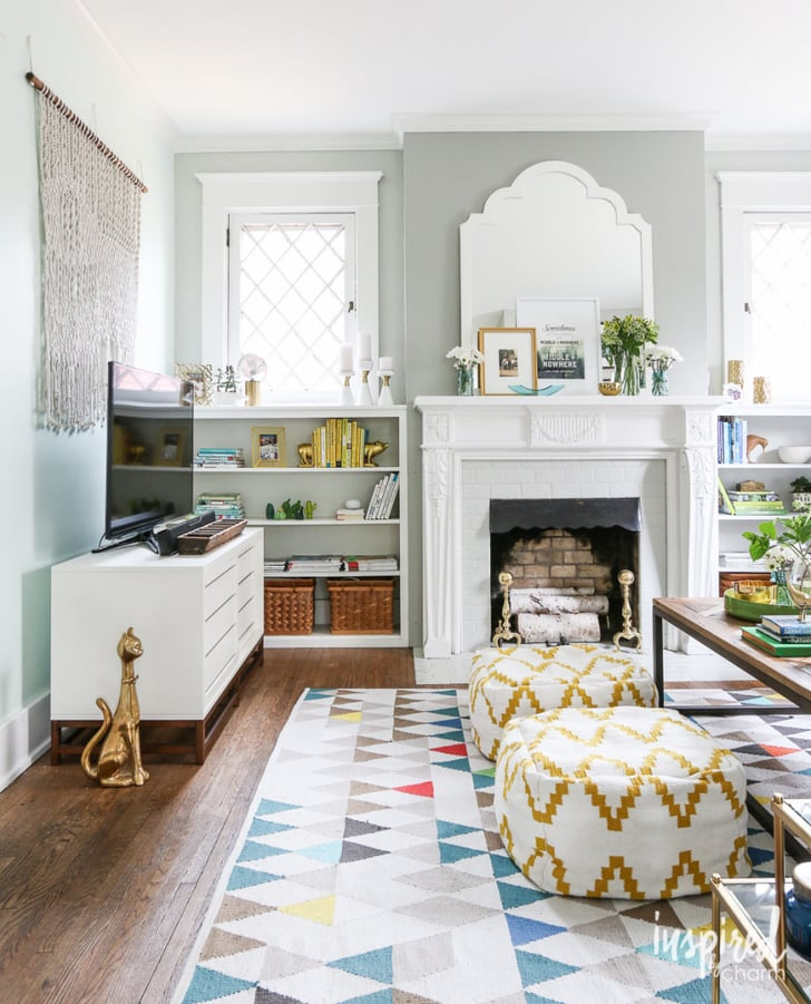 Paint a brick fireplace easy old home updates popsugar for Easy living home