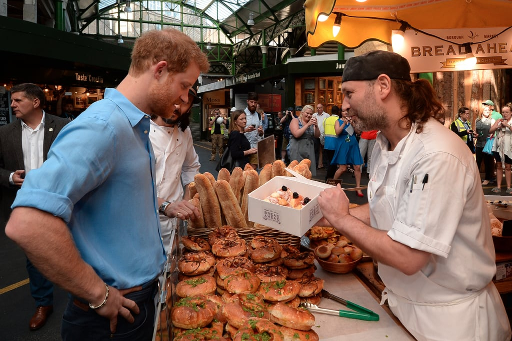 Prince Harry Visiting Borough Market June 2017